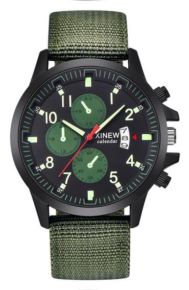 Relógio Militar Pulseira Nylon Analógico