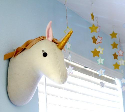 Unicornios De Pared (taxidermia En Tela)