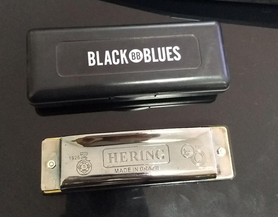 Gaita De Boca Hering Black Blues - Lá Outlet