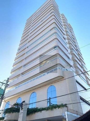 Apartamento Com 2 Dormitórios À Venda, 89 M² Por R$ 320.000 - Campo Da Aviação - Praia Grande/sp - Ap1558