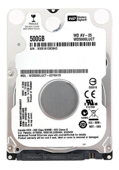 Disco rígido interno Western Digital WD AV-25 WD5000LUCT 500GB branco