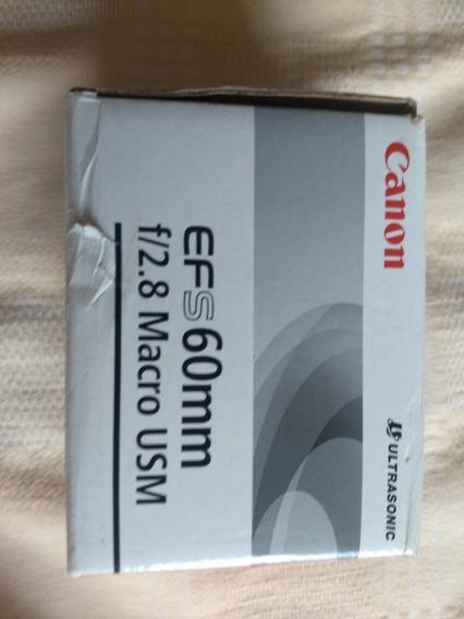 Lente Efs60mm Canon F 2.8 Macro Usm