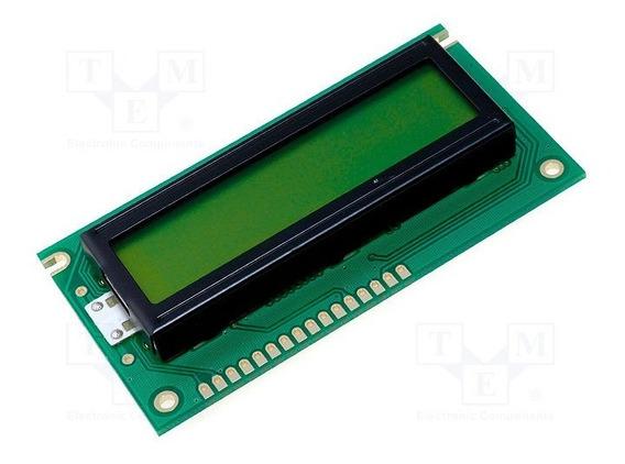Display Tela Lcd 16x2 Arduino Palm Technology Plc1602d1w-syl