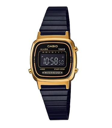 Relógio Casio Vintage Feminino La670wegb-1b