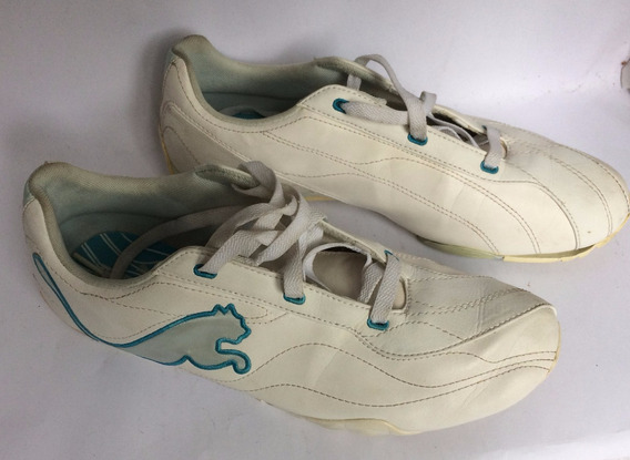 Tenis Puma Feminino Branco E Azul 39