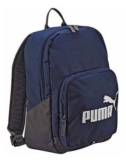 Mochila Puma Phase Backpack 073589-02 Marino Gris Unisex Pv
