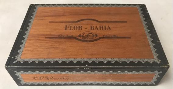 Caixa De Charuto Vazia Em Madeira Flor Bahia