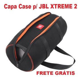 Capa Case Jbl Xtreme 2 Neoprene Eva Com Bolsa P/ Acessórios