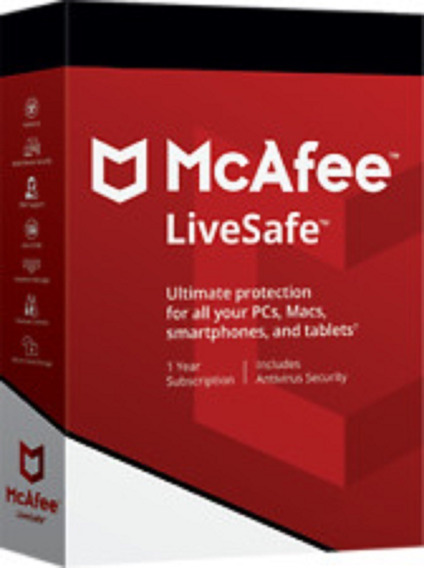 Mcafee Livesafe 1 Ano Ilimitados Dispositivos .. Leia!