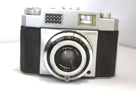 Câmera Fotografica Retro Carl Zeiss Ikon Contina Lente 45mm
