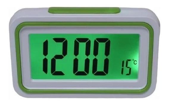 Relógio Cabeceira Que Fala Hora Idoso Retroiluminado Digital