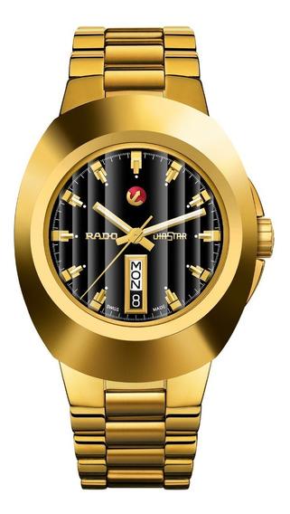 Reloj Rado New Original R12999153 Diastar Dorado-negro