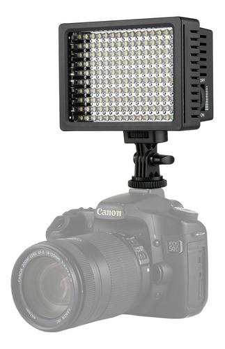 Vbestlife 160 LED Luz de Vídeo Lámpara de estudio fotográfico de iluminación de zapata para Canon Sony