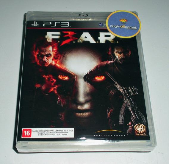 Fear 3 Terror ¦ Jogo Ps3 Original Lacrado ¦ Mídia Física