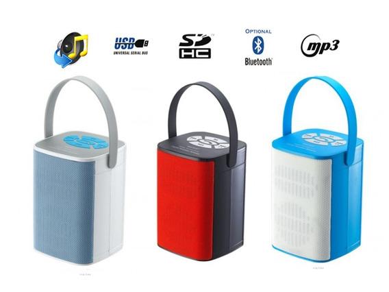 Caixa De Som Bluetooth Com Rádio Fm, Mp3 Usb Sd Azul