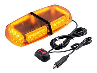 Baliza Led Estrovoscopica Ambar Emergencia 12v Ml2540