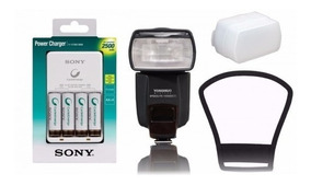 Kit Flash Yn-568ex Iii+rebatedor+difusor+carregador P/ Canon