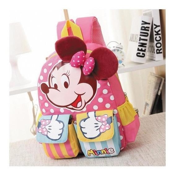 Mochila Escolar Infantil Disney Minie Mickey Fg