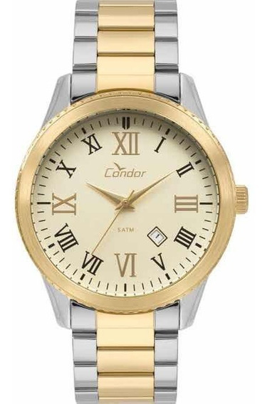 Relógio Condor Masculino Co2115kub/5d Prata/dourado