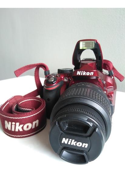 Camera Dslr Nikon D5200 Full Hd + Lente 18-55mm Completa