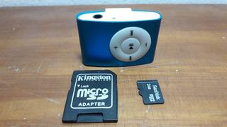 Mp3 Shuffle Incluye Microsd 2gb - Soporta Hast 16gb Micro Sd