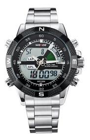 Relógio Weide Wh-1104 Anadigi Masculino Esportivo Aço