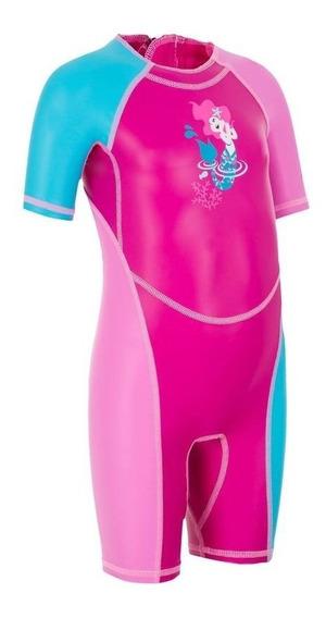 Traje De Baño Bebé/niña Estampado Sirena Rosa 8388227 2