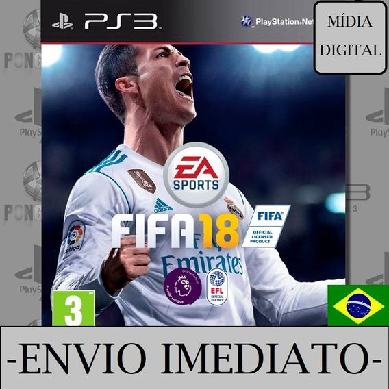 Fifa 18 Ps3 Psn Mídia Digital Português Envio Imediato