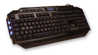 Teclado Gamer Retro Iluminado Noganet Nkb 710 Usb Led Azul