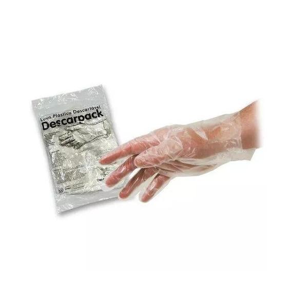 5000 Luvas Plastica Descartáveis Descarpack