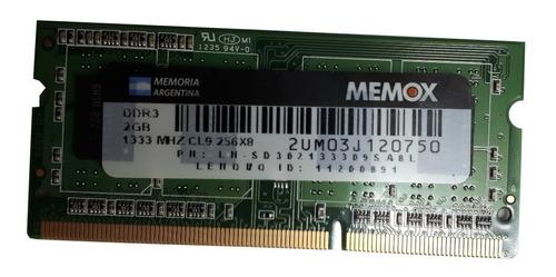Memoria Notebook Sodimm Original Memox Ddr3 2gb 1333mhz