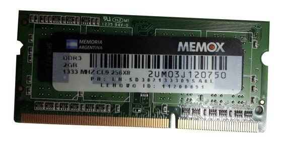 Memoria Sodimm Original Memox Ddr3 2gb 1333mhz