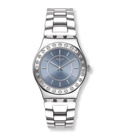 Relógio Swatch Bluedab Yls206g Aço Prata Original