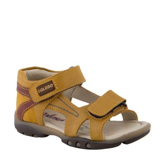 Sandalia Casual Coloso 6516 Piel Color Miel Infantil 820415
