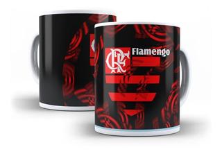 Caneca Porcelana Personalizada Time Futebol Flamengo