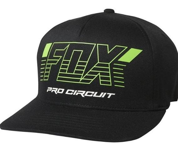 Gorra Pro Circuit Flexfit Negra Motocross Atv Fox Juri