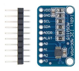 Modulo Ads1115 Adc Amplificador De Ganancia Programable Ardu