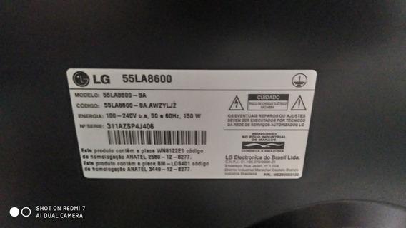 Tv LG 55 La8600 Retirar Peças - A Tela Não Está Quebrada
