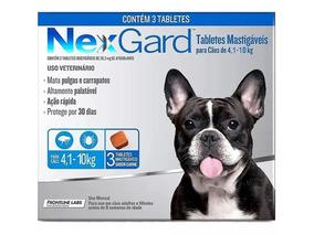 Antipulgas Nexgard Cães 4,1 A 10kg 3 Tablete - 01/2020