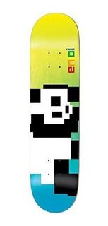 Enjoi 8 Bit Panda Deck 8.0 Azul / Amarillo R7 Montado Como S