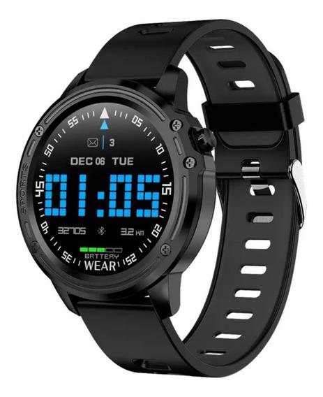 Relógio Smartwatch L8 Sport Preto À Prova Dágua Ip68 Pomo