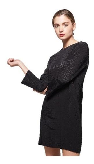 Vestido Semi Formal Básico Negro Corto S - M