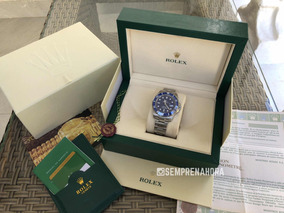 Rolex Submariner Azul Com Caixa E Documentos