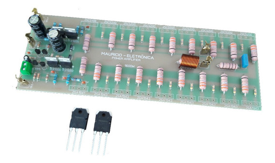 Placa Para Amplificador 1600w 2 Ohms Sem Transistor De Saida
