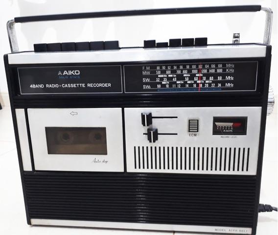 Rádio Toca-fitas Aiko Atpr401r ( Fm/ Mw/ Sw1/ Sw2) Anos 1970