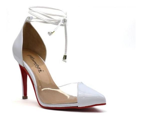 Promoção Scarpin Transparente Vinil Salto Alto 10cm Sapato