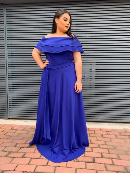 Vestido Madrinha De Casamento Azul Bebê Plus Size