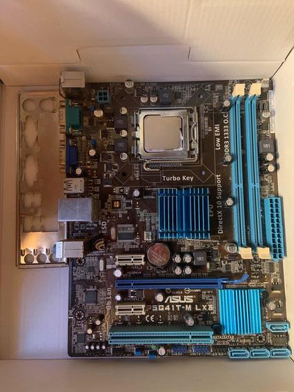 Placa Mãe 775- Ddr3 1333 + Intel Pentium Dual-core