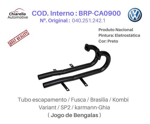 Tubo Escapamento Fusca Brasilia Kombi Variant Sp2 - Bengalas