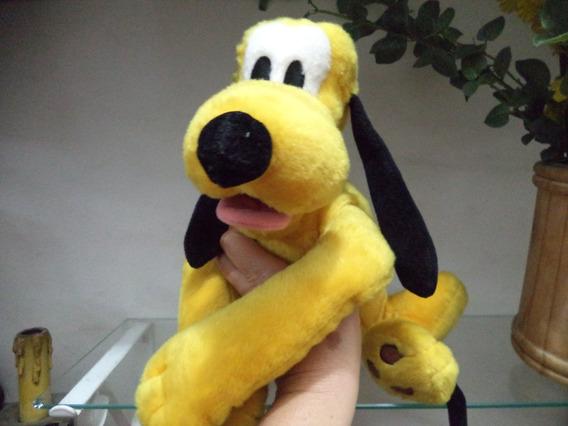 Pluto Medio Original Disney Pelucia Antigo Lindo Deitado